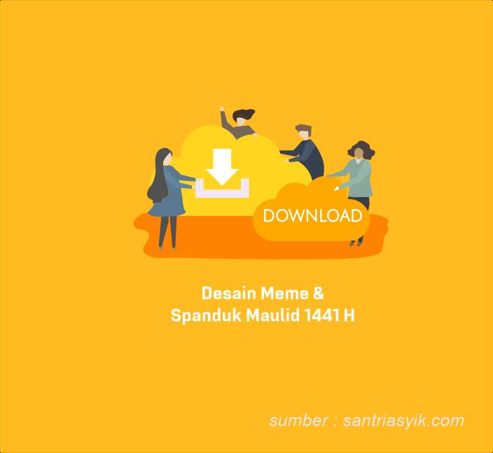 Download Desain Spanduk dan Meme Maulid Nabi Muhammad 1441 Keren