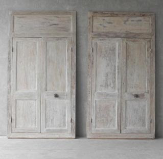 Two Pairs of Early 19th Century Boiserie Doors from Bondues, a village near  Lille France via Chateau Domingue as seen on linenandlavender .net - http://www.linenandlavender.net/p/blog-page_9.html