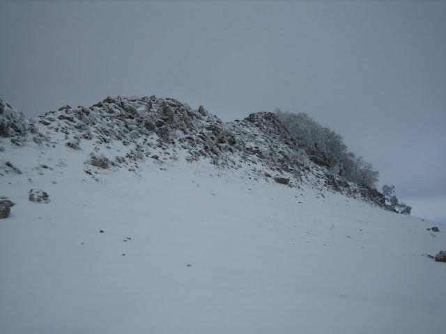Llegando a la zona de la arista previa a la cima