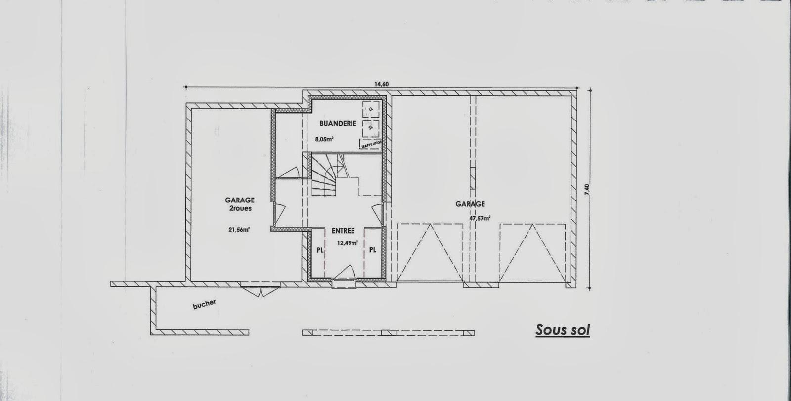 plan maison 2 chambre salon cuisine. Black Bedroom Furniture Sets. Home Design Ideas