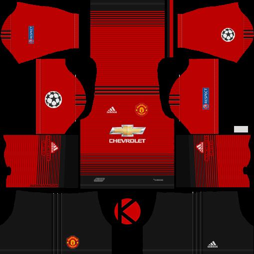 Manchester United 2018 19 Kit Dream League Soccer Kits Kuchalana