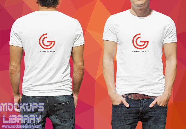 white t shirt template front and back