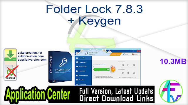 Folder Lock 7.8.3 + Keygen