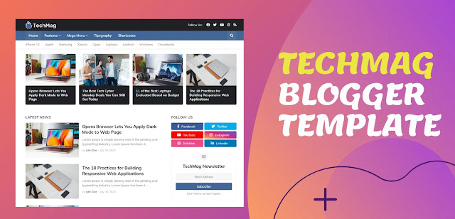 Techmag premium blogger template,the best template of 2020 [Download]