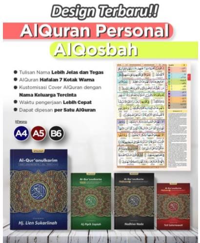 Toko Online Jual Al Quran Cover Custom Untuk Hafalan Plus Terjemahan