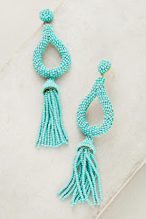 Make a splash in these statement earrings - Jasmine Tassel Drop Earrings - Anthropologie - Jewellery Summer Holiday