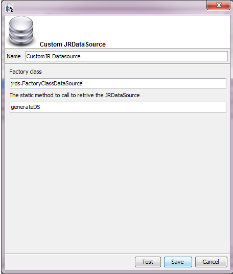 How to set datasource in iReport using a JRDatasource Provider as