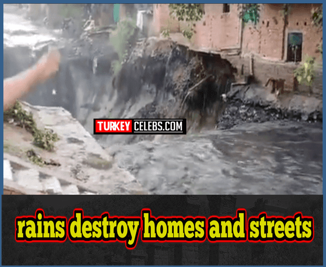 Heavy rains destroy homes and streets in India 2020