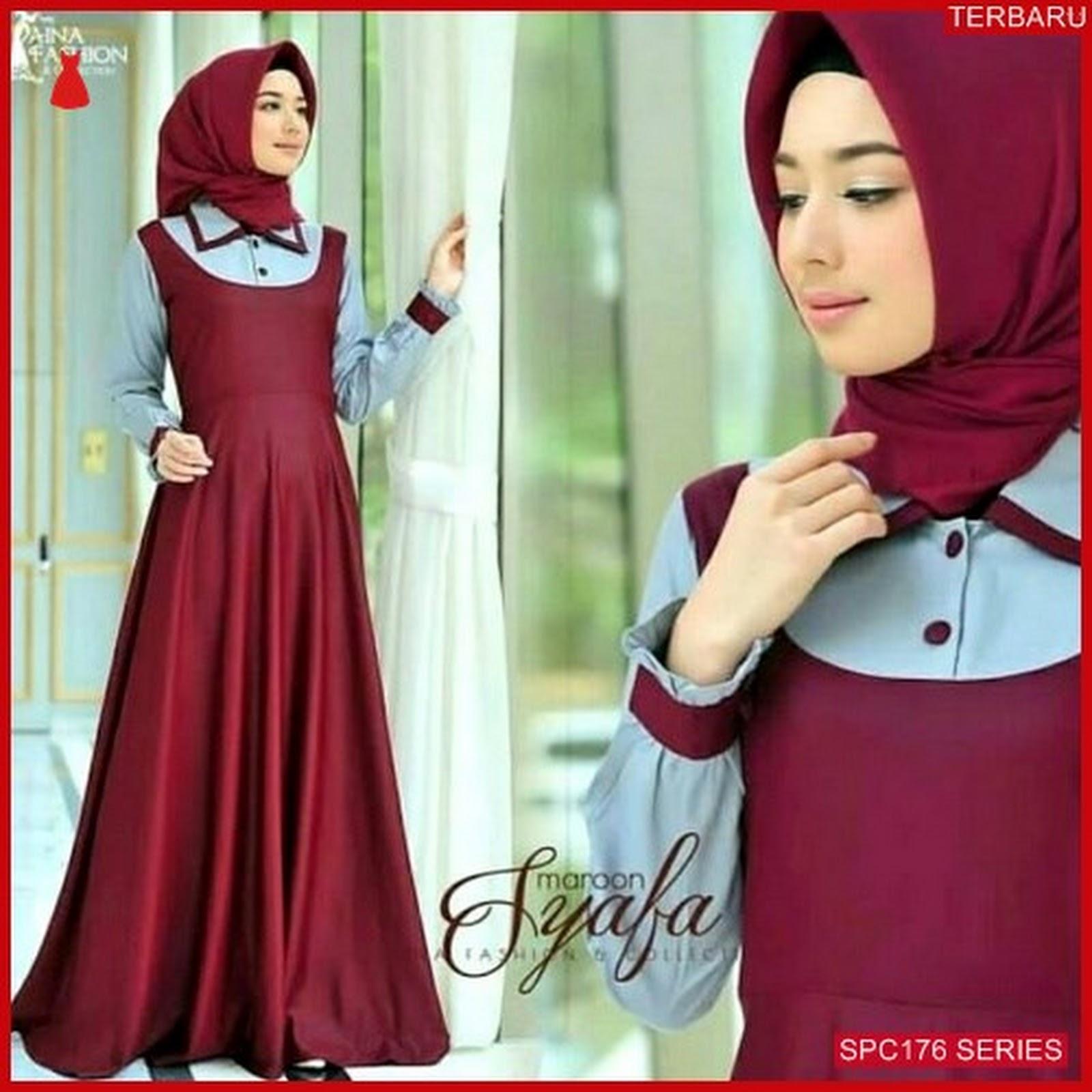 SPC176S42 Syafa Dress Gamis Maxy Dress Muslim Wanita  70881a43c2