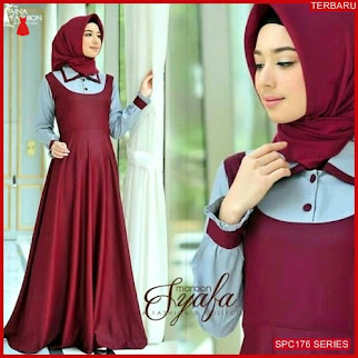 SPC176S42 Syafa Dress Gamis Maxy Dress Muslim Wanita | BMGShop