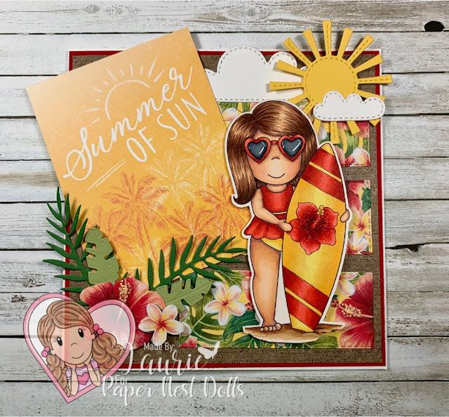 My Summer of Sun Card Using Surfer Emma