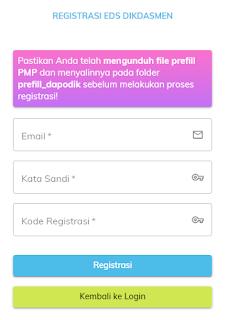 registrasi aplikasi PMP offline
