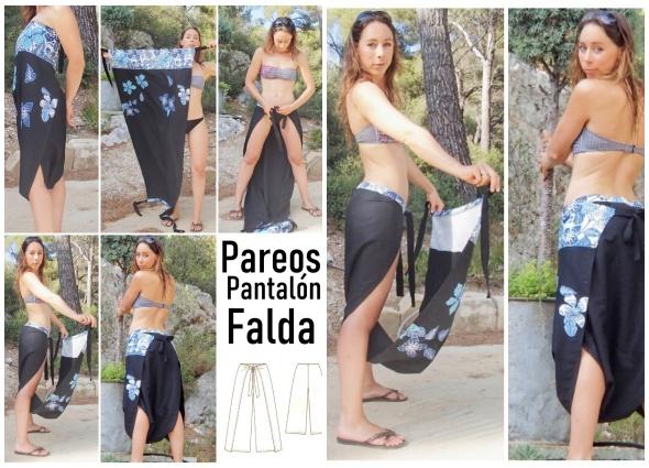 pantalones,pareos, falda-pantalón, bricomoda, costura,transformables, labores