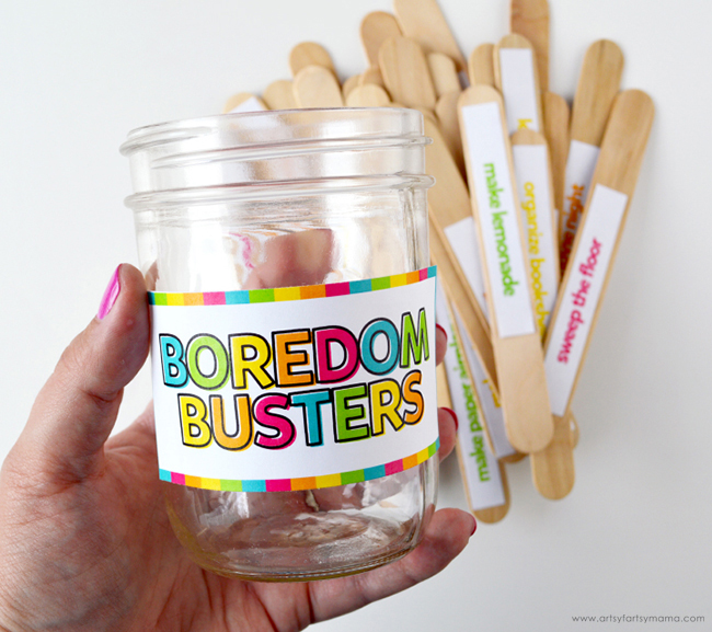 Boredom Busters Label on Jar