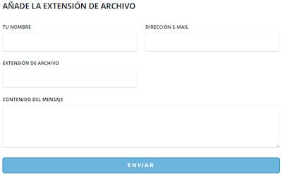 formulario de contacto de file-extension.org