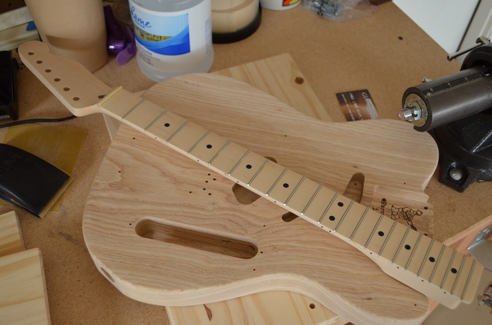 warmoth nocaster build spraying a custom finish part two. Black Bedroom Furniture Sets. Home Design Ideas