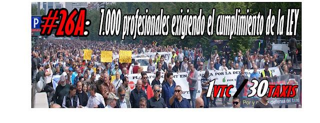 manifestacion federacion profesional del taxi madrid