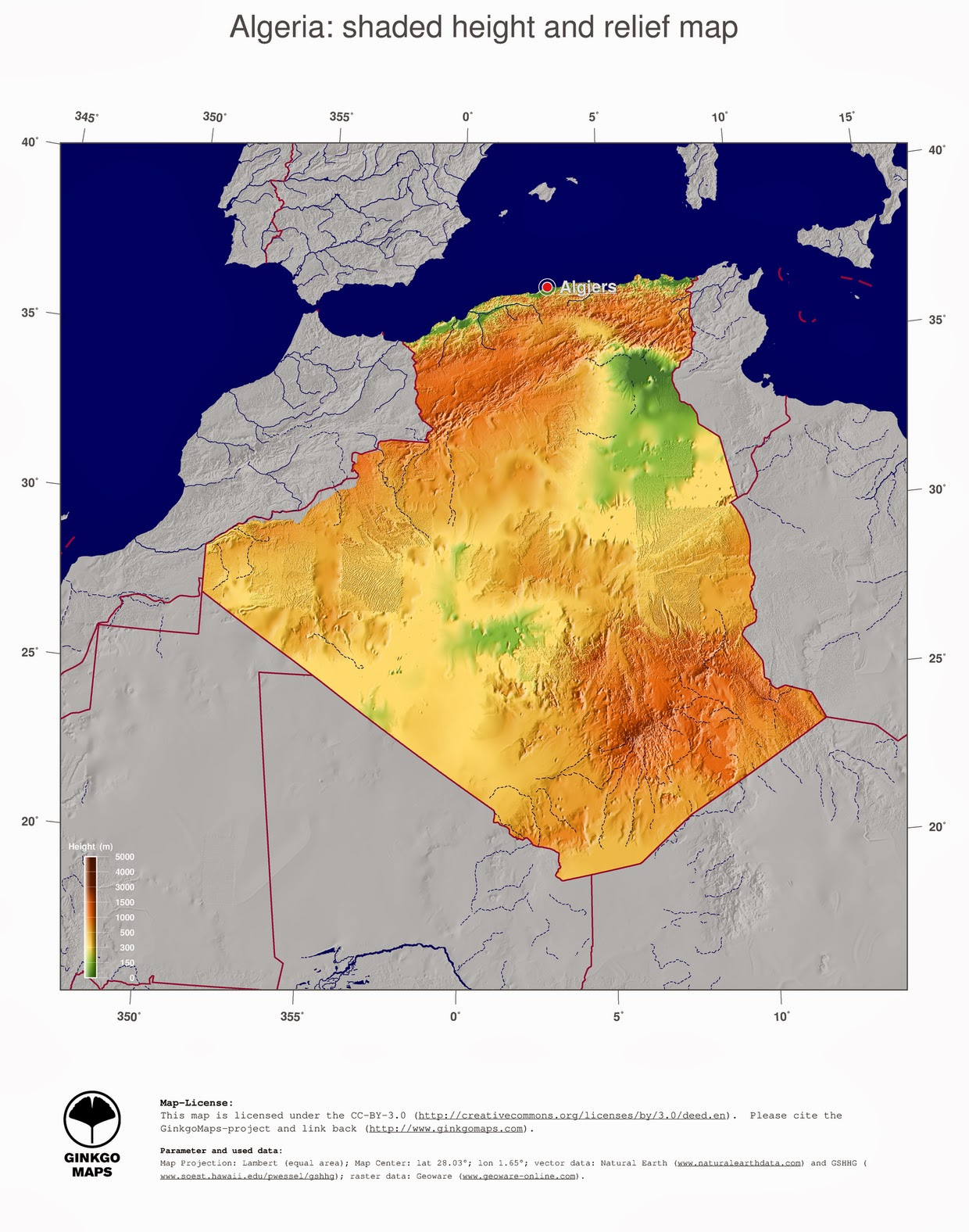 free maps download: Algeria map