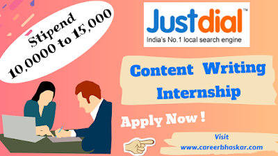 Justdial Content Writing Internship, Justdial Content Writing Internship, Internshala, Internship, Content Writing Internship, Content writing,