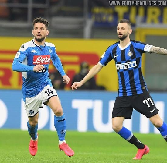 Blue Against Blue Kit Clash In Inter Vs Napoli Coppa