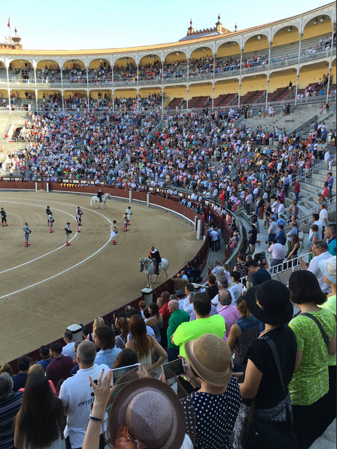 Bullfighting-Arena-in-Madrid-Spain