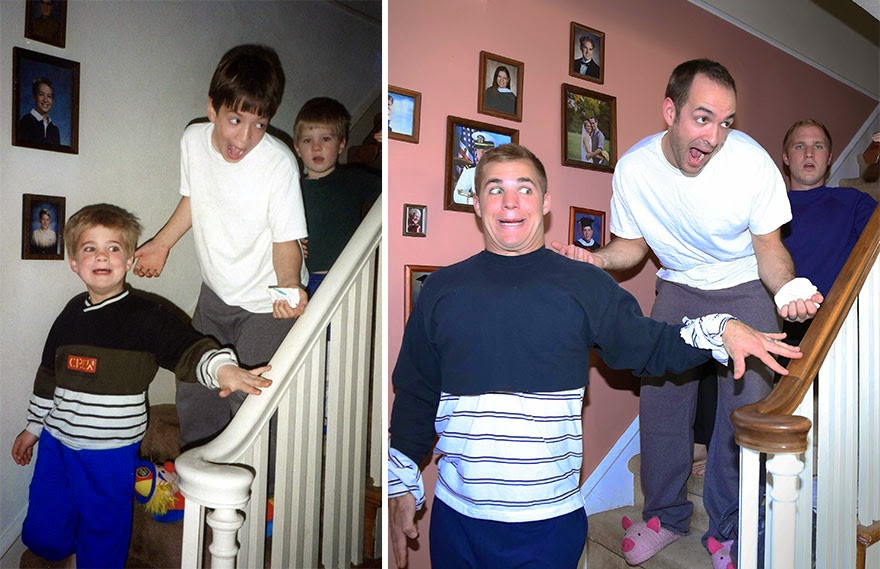 omorfos-kosmos.gr - Τρία αδέρφια φωτογραφίζονται ξανά όπως παλιά - ως δώρο για τη μητέρα τους (Εικόνες)