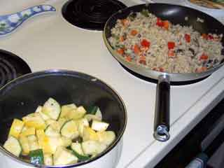 Veggie Fried Rice, the other veggies