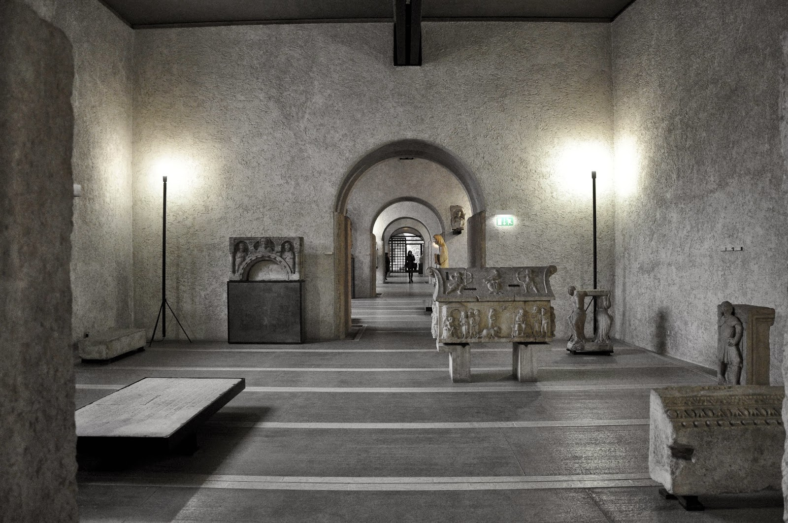 The first room with medieval art of Museo Civico di Castelvecchio in Verona