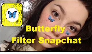 Butterfly filter snapchat ||  Cara mudah dapatkan Butterfly filter snapchat