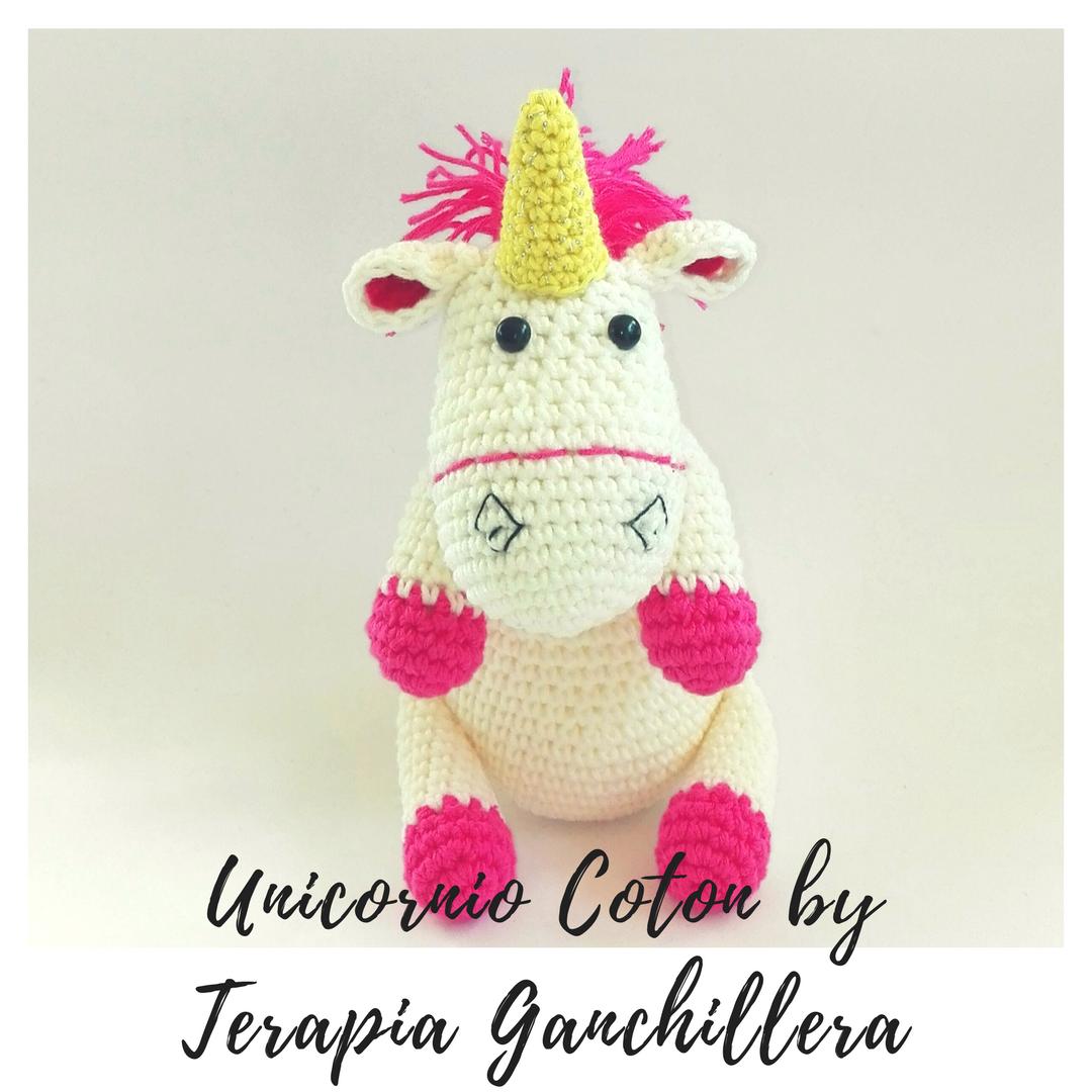 Amigurumi Unicornio Coton con patrón | Terapia Ganchillera