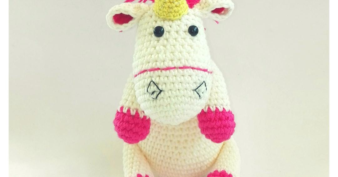 Amigurumi Unicornio Coton con patrón | Terapia Ganchillera | 566x1080