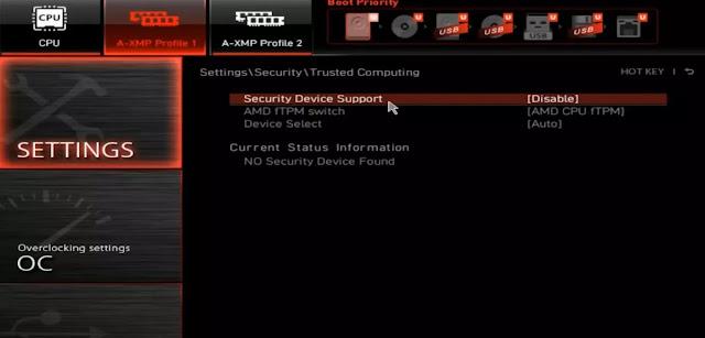 مشكلة عدم توافق ويندوز 11 - pc cant run windows 11 -TPM 2.0 -fixed 4