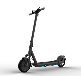 Grey electric scooter