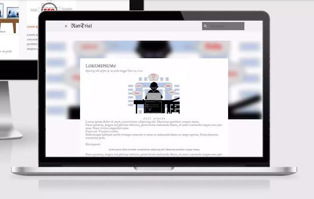 tampilan halaman pada postingan default template emporio
