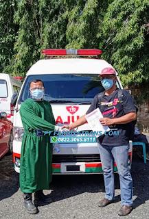 Pengiriman Mobil Ambulance Toyota  HiAce dari Karoseri Tangerang kirim ke Dinas Kesehatan Sawahlunto Padang Sumatera Barat  dengan kapal roro dan driving melalui Pelabuhan Merak Banten - Bakaheuni Lampung, estimasi perjalanan 3-4 hari oleh Ekspedisi FARHIYAtrans.