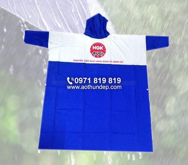 giá áo mưa in logo công ty