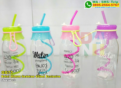 Botol Minum Sedotan 420ml Exclusive