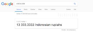 mengkonvesi mata uang di google