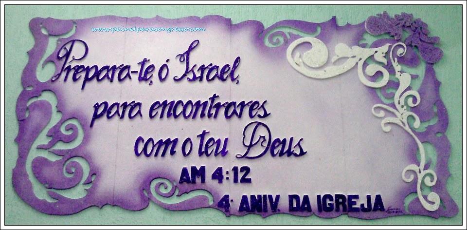 Tema para aniversário da igreja  /  Amós 4:12