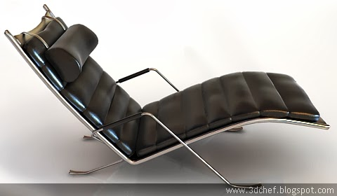 leather chair 3d model free