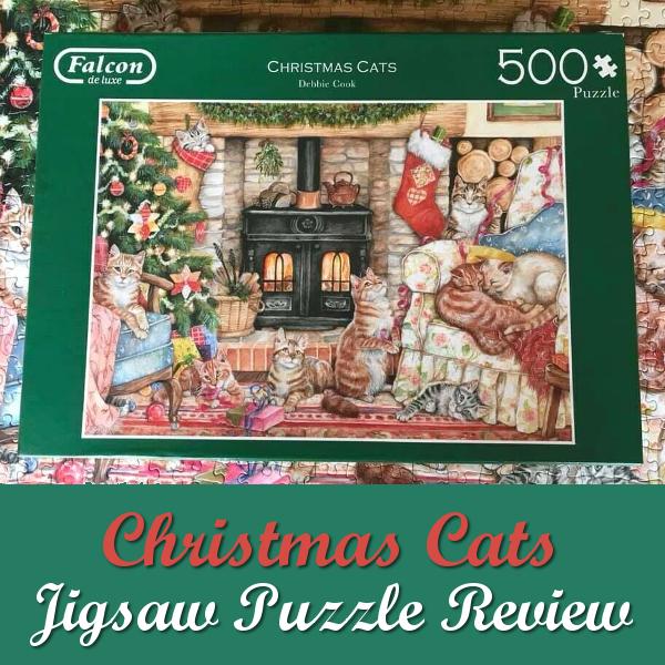 Falcon de luxe Christmas Cats Jigsaw Puzzle Review 500 Pieces Debbie Cook Art Puzzles Cat Cute