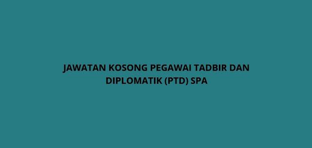 Permohonan Jawatan Kosong PTD 2021 Online (Pegawai Tadbir Diplomatik)