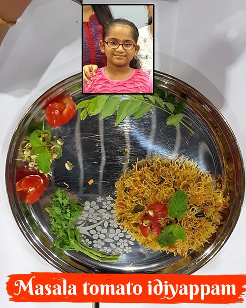 Sanjana Yugan's masala tomato idiyappam