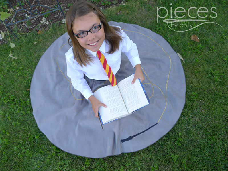 8032435e8602 Our family has been die-hard Harry Potter fans for years, with my  10-year-old daughter being the most enthusiastic. I made her a Hermione  Skirt a couple ...