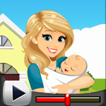 G4K Mother Rescue With Baby Game Walkthrough