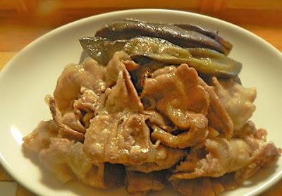 豚バラと茄子の味噌炒め