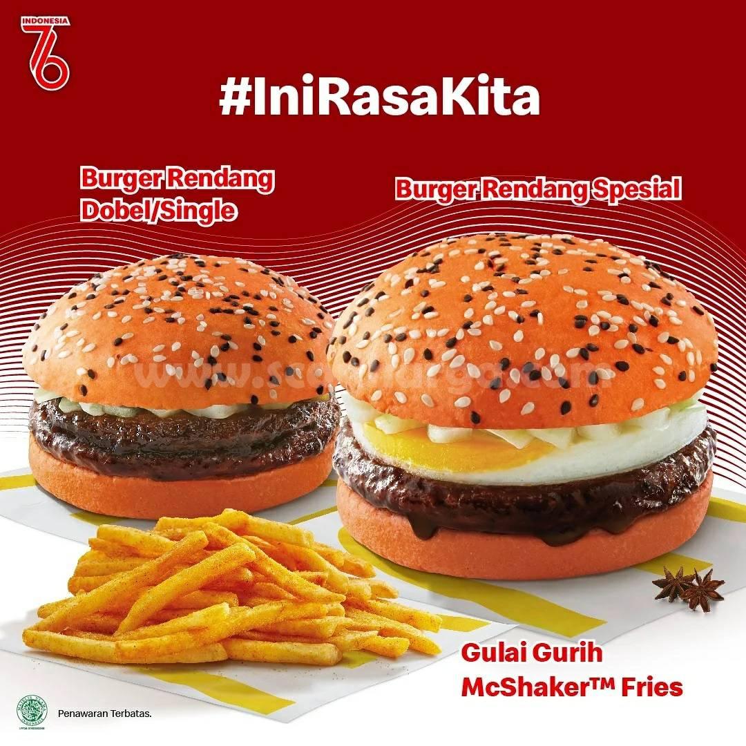 McDonalds INI RASA KITA! Burger Rendang Harga Spesial mulai dari Rp. 30 Ribu-an*