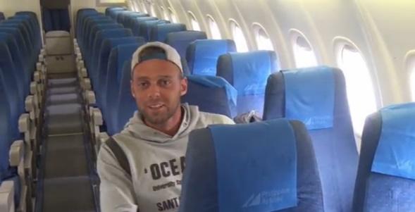 Alex Simon yang menjadi penumpang satu-satunya saat berlibur ke Boracay