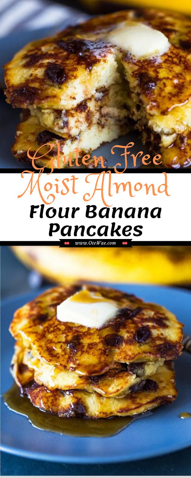 Gluten Free Moist Almond Flour Banana Pancakes