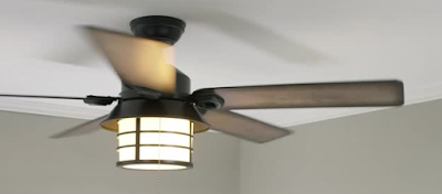 "Hunter 59135 Key Biscayne 54"" Weathered Zinc Ceiling Fan Pine Reversible Blades"
